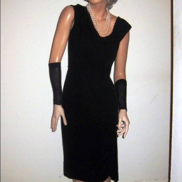 5ae502cfd vintage Dresses | 50s Little Black Crepe Cocktail Dress | Poshmark